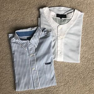 Chaps long sleeve button up XL shirt + free shirt